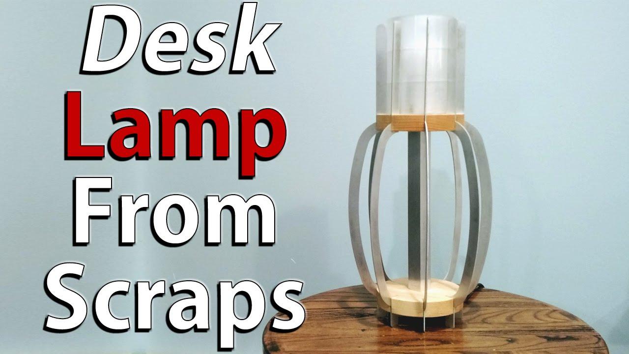 Diy Desk Lamp: DIY desk lamp made from scraps - Lamp build off challenge,Lighting