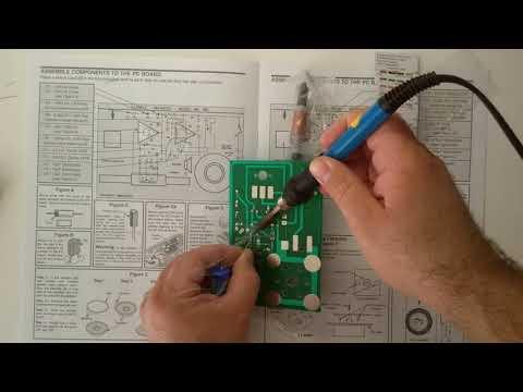 Elenco AM Radio Assembly Part 4: C5 C4 C8 C9 R5