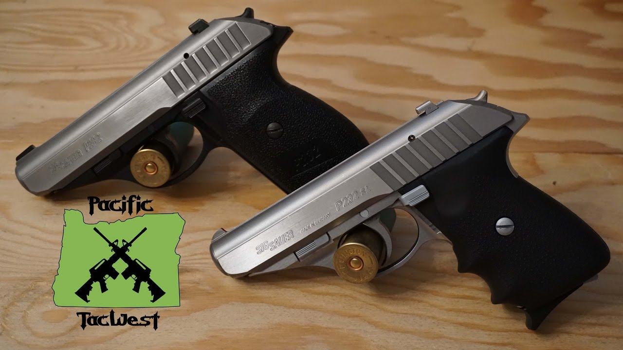 sig p232 two tone and stainless sl comparison disassembly field