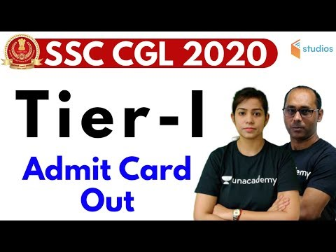 SSC CGL 2020 Admit Card Out | How to Download SSC CGL Tier-1 Admit Card & Exam Date