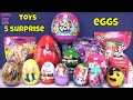 Pikmi POPS 5 Surprise Girls Eggs Kinder Blind Bags Toys Opening Kids Fun Hello Kitty