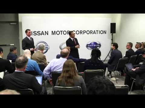 Nissan: Ghosn, Muñoz hold media roundtable at NYIAS 2015