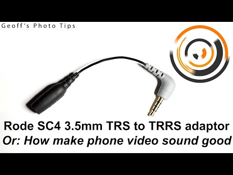 Rode SC4 cable - or How to make smart phone video have good audio