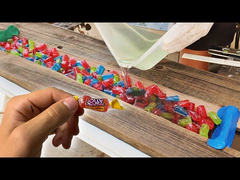 I MADE A SKATEBOARD with 1,000 JOLLY RANCHERS....lol | MARKO