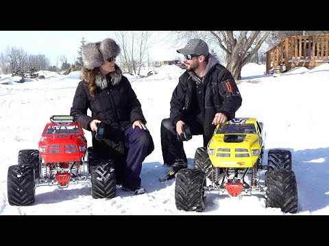 """HER VERY FIRST TIME! COUPLE ENJOY Their 49cc GAS """"ToY"""" RAMINATOR MONSTER TRUCKS 