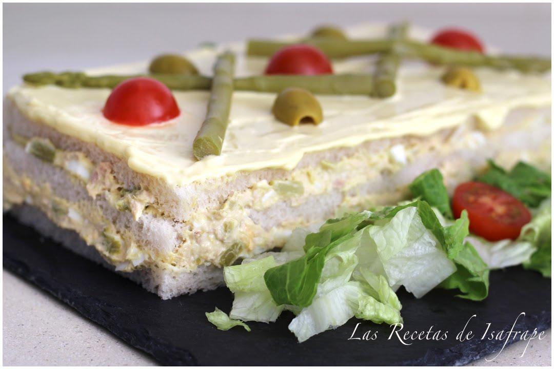 Pastel Salado De Pan De Molde Youtube