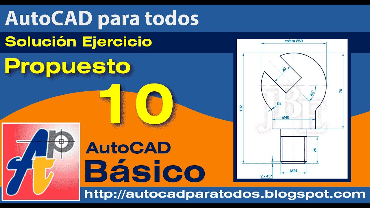 Solución Ejercicio Propuesto 10- AutoCAD Básico
