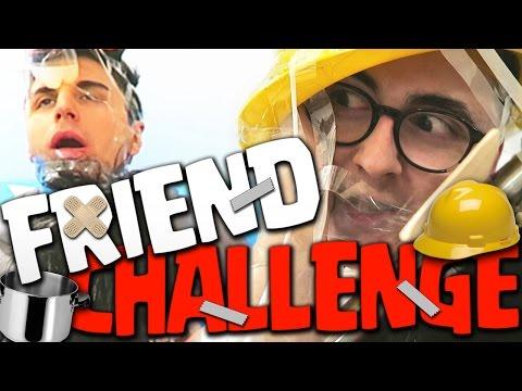FRIEND CHALLENGE : PENTOLE E ASPIRAPOLVERI IN FACCIA!! w/MATES