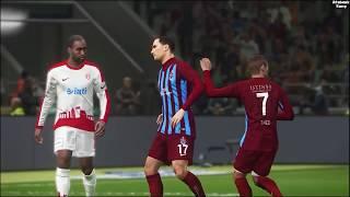 PES 2018 - TRABZONSPOR ANTALYASPOR MAÇI TÜRKÇE SPİKERLİ - Pro Evolution Soccer 2018 PC