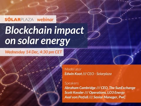 Webinar - Blockchain impact on solar energy
