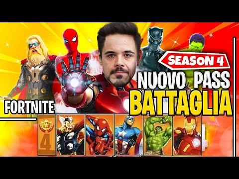 IL NUOVO PASS BATTAGLIA DELLA SEASON 4 DI FORNITE!!! FANTASTICO 😱