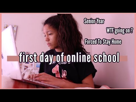 my first day of online school….. we all know why