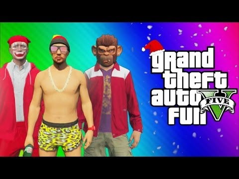 Thumbnail: GTA 5 Online Funny Moments Gameplay - North Yankton Glitch, Titan Plane Fun, Alien, This is Santa!