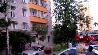 Пожар  Москва Солнцево ГОРИТ КВАРТИРА