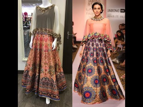 687e0de95 Latest Pakistani Cape Style Dresses For This Eid 2017 - YouTube
