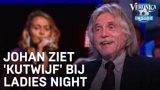 Johan Derksen kijkt naar Ladies Night voor 'kutwijf' Stella Bergsma