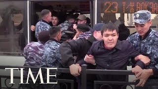 Hundreds Arrested In Kazakhstan As Demonstrators Protest Presidential Vote | TIME