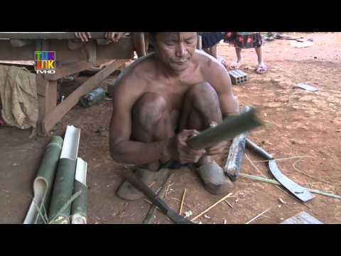 Making & playing of bamboo percussion — Kreung — Ratanakiri