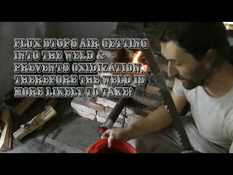 Blacksmithing - WD40, clay, sand, charcoal as a Flux! Forge Weld Damascus from Scrap! Episode #4