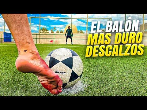 🦶🏻 DESCALZOS vs EL BALÓN MÁS DURO! ⚽ Retos de Fútbol