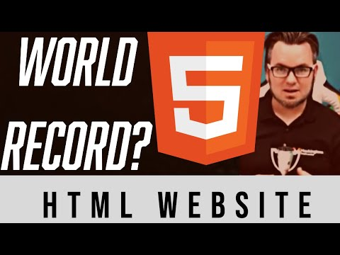World Record Attempt- Code And Launch A Website In HTML
