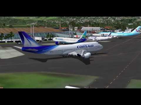 decolage boieng 747 400  Fort de France