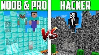 Minecraft NOOB Vs PRO Vs HACKER CASTLE HOUSE Challenge In Minecraft  Animation