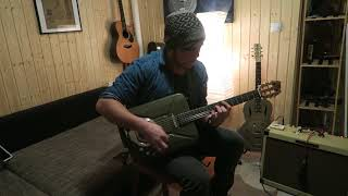 rudie instruments - no one knows (qotsa) on gas can guitar