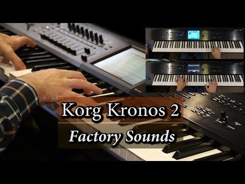 Korg Kronos 2 - A Pad, Piano & Dist. Guitar Demo