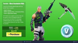 "How To Get NEW ""XBOX SKIN BUNDLE"" in Fortnite! NEW XBOX EXCLUSIVE SKIN BUNDLE! (Exclusive Xbox Skin)"