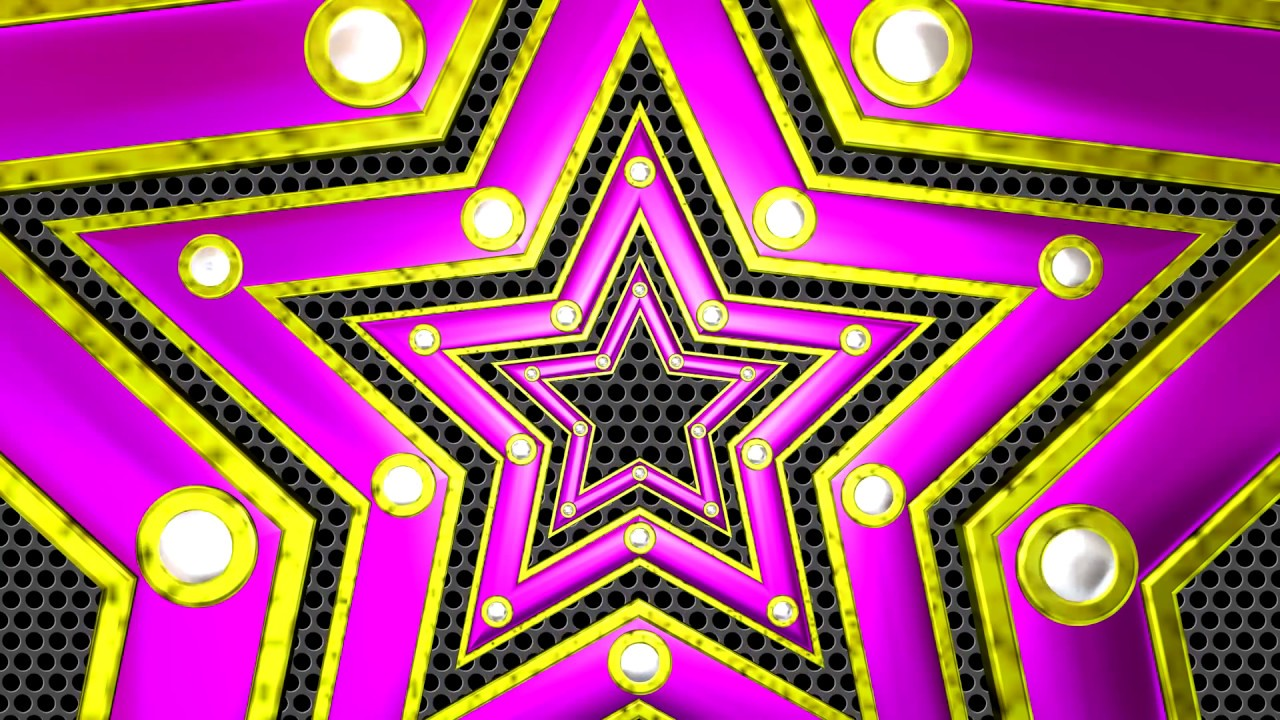 Motion Background Free HD - Stars Dance Lights 3D Loop - YouTube