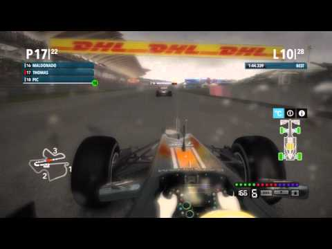 F1 2012 Full Career Race Malaysia Mixed Conditions and Safety Car