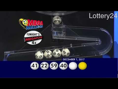 2017 12 01 Mega Millions Numbers and draw results