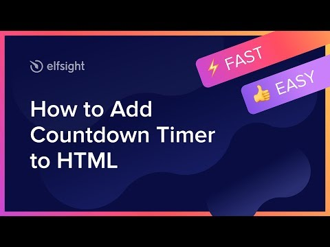 How To Add Countdown Timer To HTML Website (2020)
