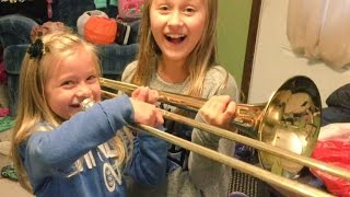 "Hilarious 6 YEAR OLD ""LET IT GO"" FAIL on TROMBONE!"
