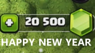 NEW YEAR SPENDING SPREE OF 20,500 GEMS (CLASH OF CLANS)