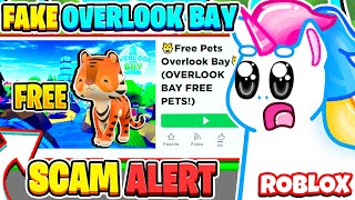 I WAS SCAMMED PLAYING *FAKE* OVERLOOK BAY GAMES ON ROBLOX! Roblox Scam