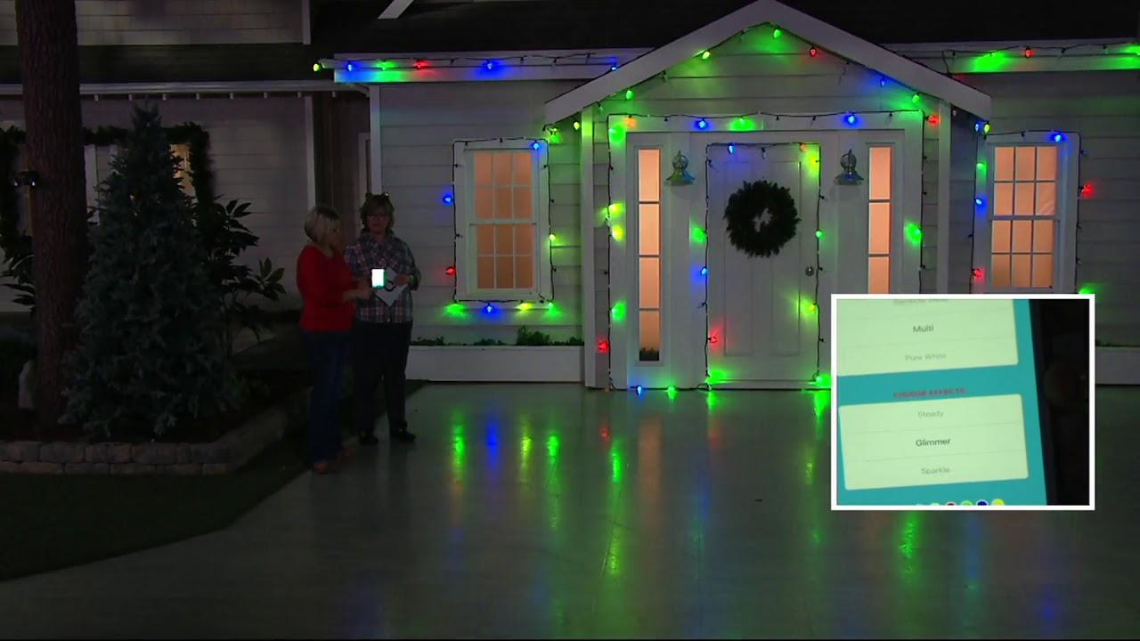 set of 20 c9 bulb smart lights light strand w app control on qvc