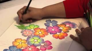 Gradient Flowers - Color Pencil Tutorial