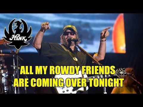Hank Jr playing All My Rowdy Friends Are Coming Over Tonight