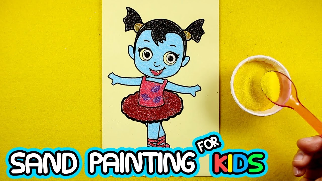 Vampirina Baby Nosy Sand Painting | Coloring Pages with Colored Sands and Glitters