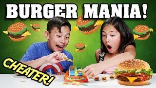 BURGER MANIA!!! The Hamburger Challenge Cheaters! thumbnail