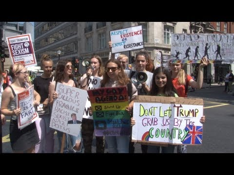 Socialist Students on Anti-Trump Demo