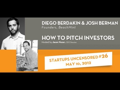 How to Pitch Investors - Startups Uncensored 26
