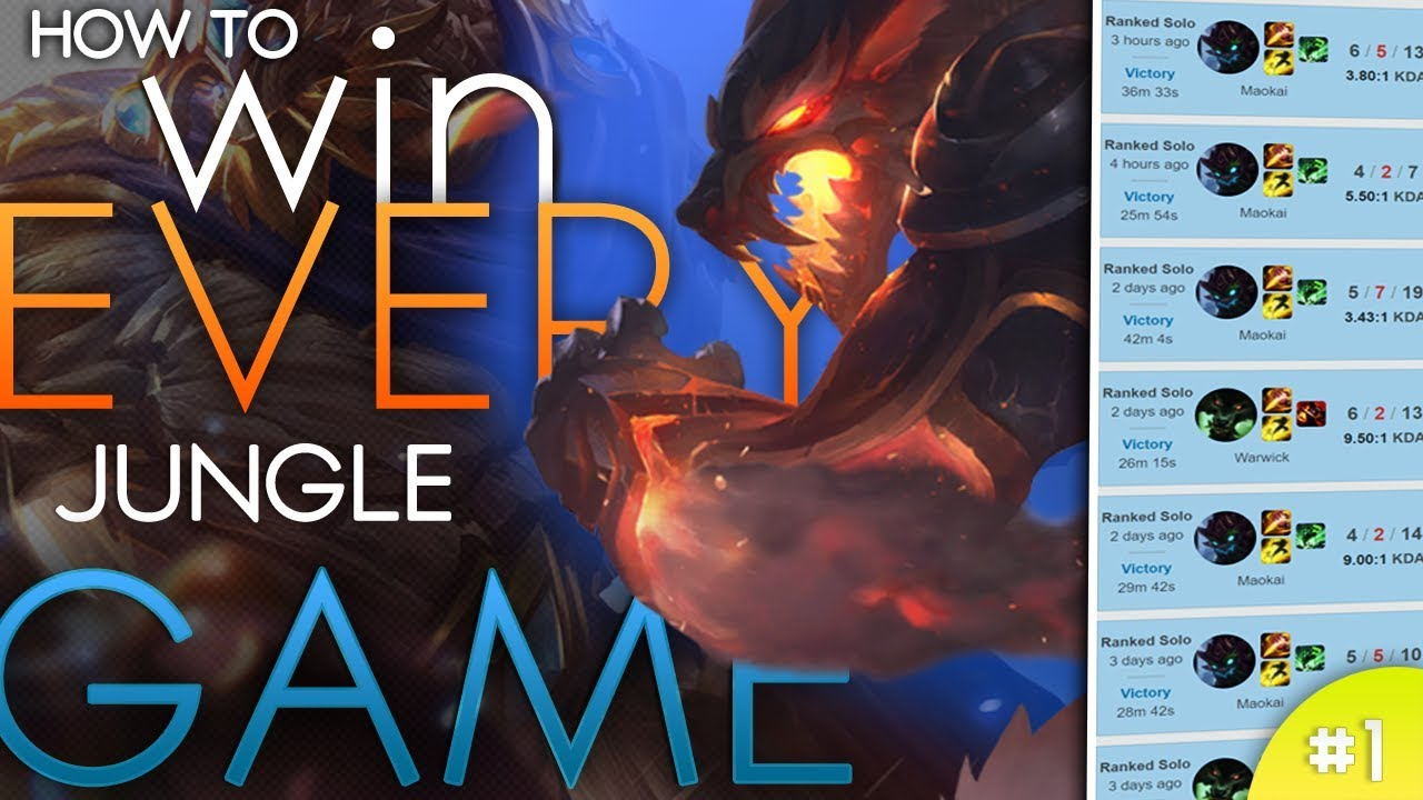 How to win every game as a jungle main | League of Legends Season 7 patch 7.15