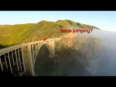 Base Jumping off Bixby Bridge, Big Sur