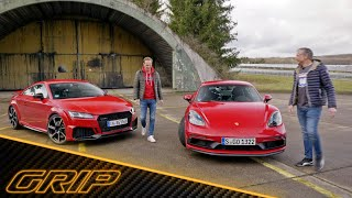 400-PS-Coupés - Porsche 718 Cayman GTS 4.0 vs. Audi TT RS | GRIP