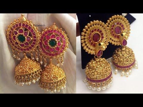 Cute Little Gold Jhumka Designs 2019