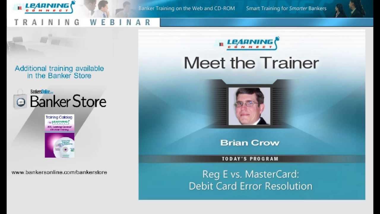 Reg E vs. MasterCard: Debit Card Error Resolution