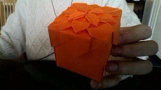 origami hydrangea flower box